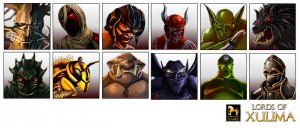 Lords of Xulima enemy portraits