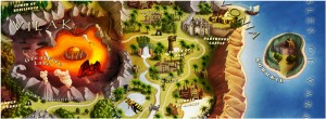 Lords of Xulima PC Mac Linux RPG Map